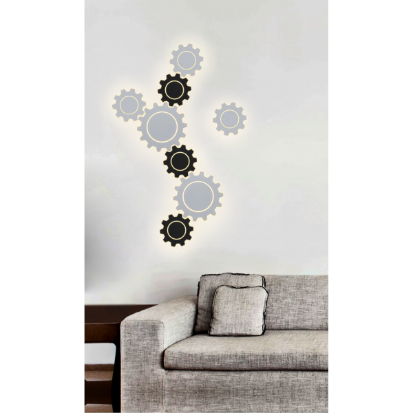 Gear L LED белый Настенный светодиодный светильник MRL LED 1100 6