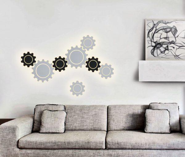 Gear M LED черный Настенный светодиодный светильник MRL LED 1095 5