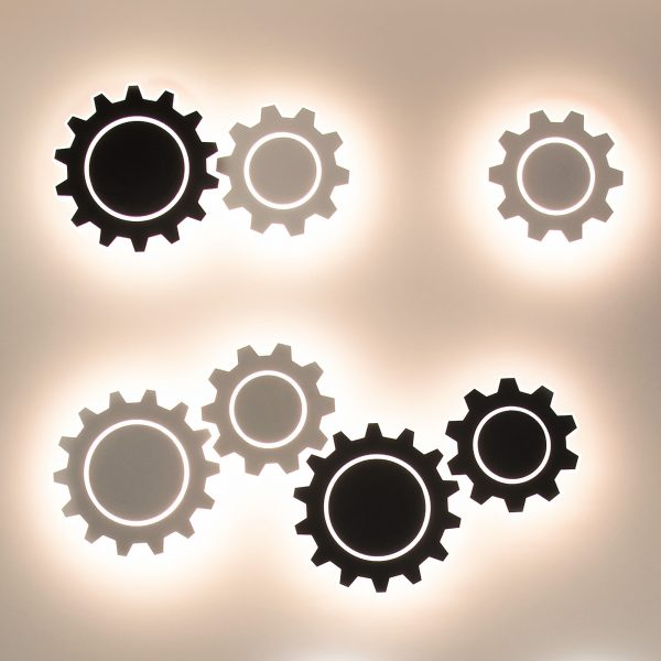 Gear M LED черный Настенный светодиодный светильник MRL LED 1095 2