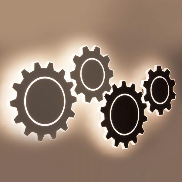 Gear M LED черный Настенный светодиодный светильник MRL LED 1095 1