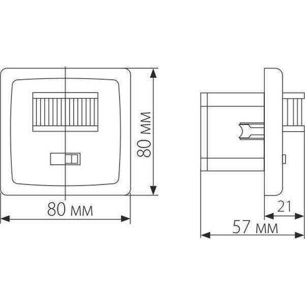 Инфракрасный датчик движения 1200W IP20 160 Белый SNS-M-01 1