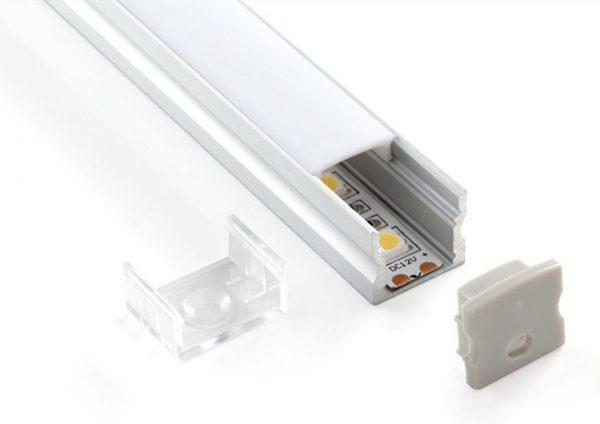 Комплект заглушек для накладного алюминиевого профиля светодиодной ленты (10 пар) ZLL-2-ALP001-R 1