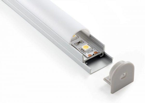 Комплект заглушек для потолочного алюминиевого профиля светодиодной ленты (10 пар) ZLL-2-ALP005 1