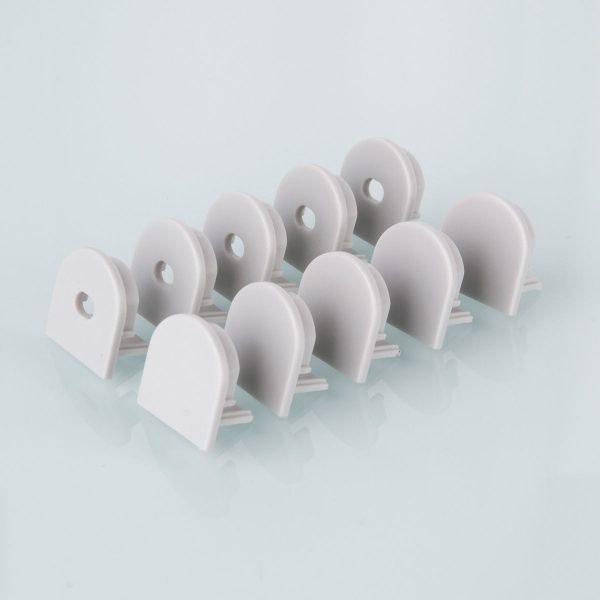 Комплект заглушек для потолочного алюминиевого профиля светодиодной ленты (10 пар) ZLL-2-ALP005