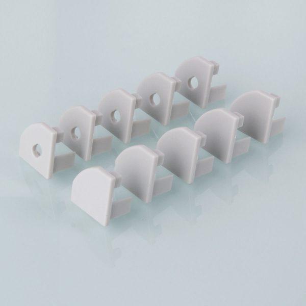 Комплект заглушек для углового алюминиевого профиля светодиодной ленты (10 пар) ZLL-2-ALP004