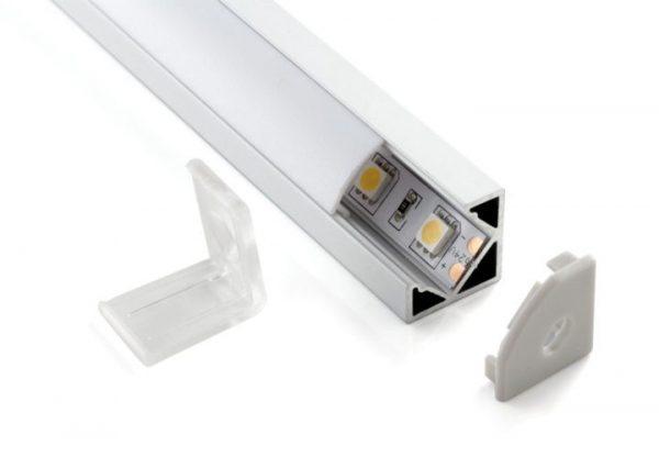 Комплект заглушек для углового алюминиевого профиля светодиодной ленты (10 пар) ZLL-2-ALP004 1