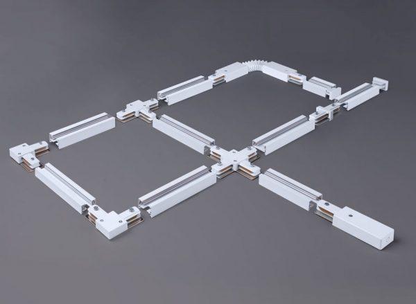 Коннектор угловой для однофазного шинопровода белый TRC-1-1-L-WH 1