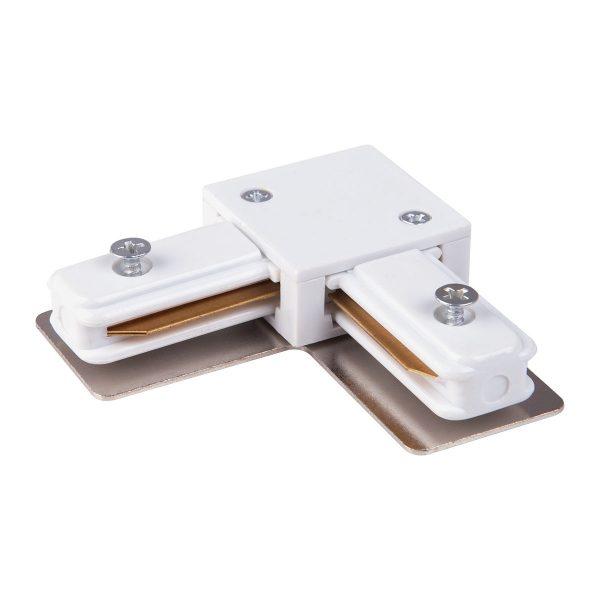 Коннектор угловой для однофазного шинопровода белый TRC-1-1-L-WH