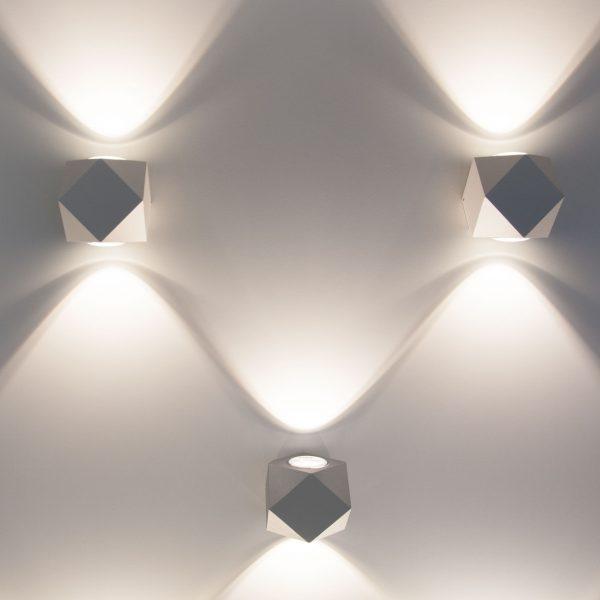 KROKET белый уличный настенный светодиодный светильник 1565 TECHNO LED 3
