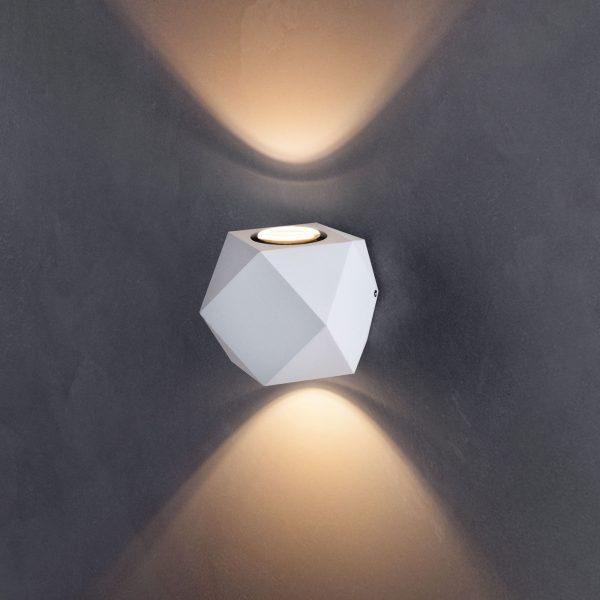 KROKET белый уличный настенный светодиодный светильник 1565 TECHNO LED 1
