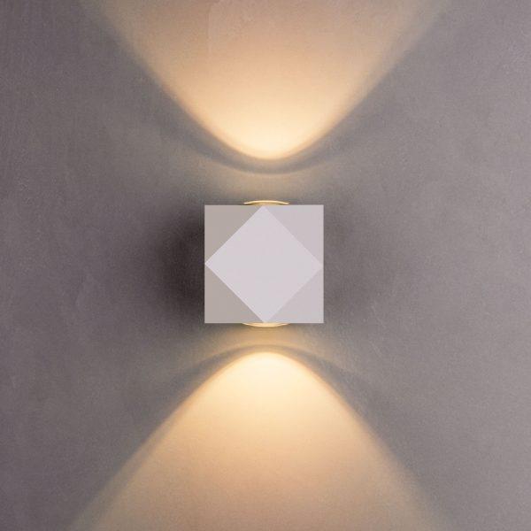 KROKET белый уличный настенный светодиодный светильник 1565 TECHNO LED 2
