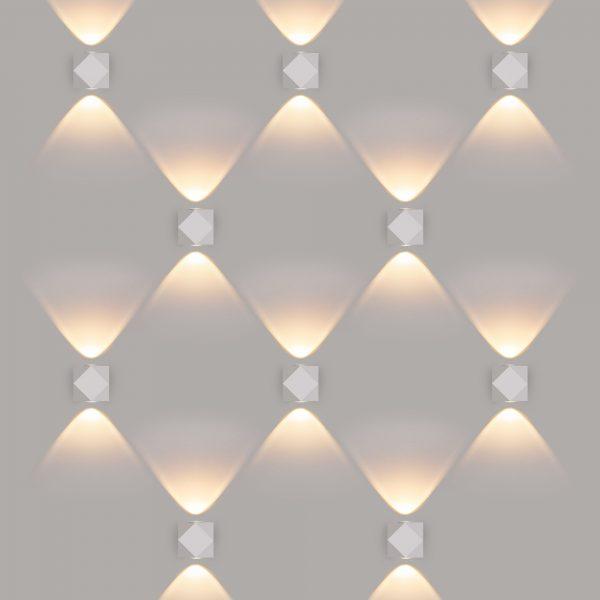 KROKET белый уличный настенный светодиодный светильник 1565 TECHNO LED 4