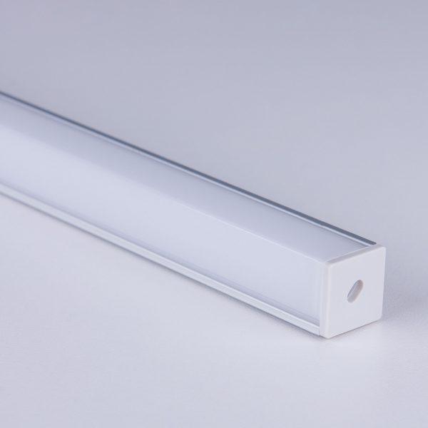 Квадратный угловой алюминиевый профиль для светодиодной ленты LL-2-ALP009 3