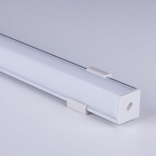 Квадратный угловой алюминиевый профиль для светодиодной ленты LL-2-ALP009 4
