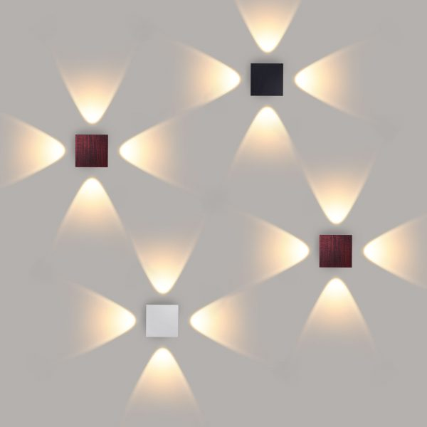 Kvatra белый уличный настенный светодиодный светильник 1601 TECHNO LED 3