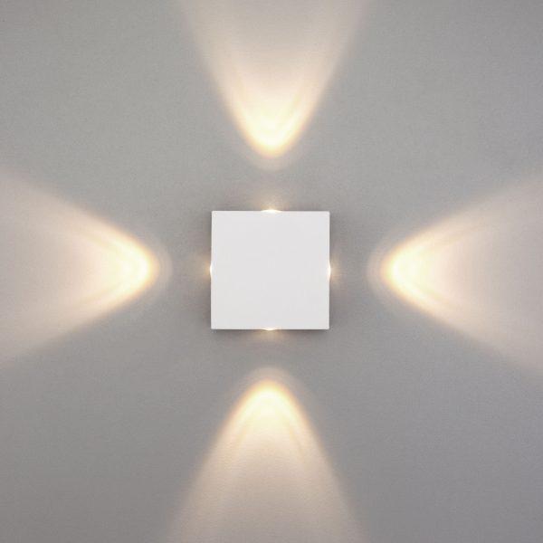 Kvatra белый уличный настенный светодиодный светильник 1601 TECHNO LED 1