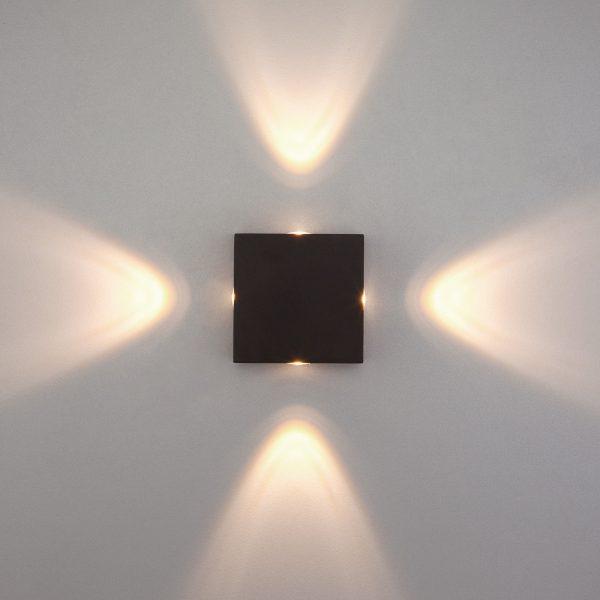Kvatra черный уличный настенный светодиодный светильник 1601 TECHNO LED 1