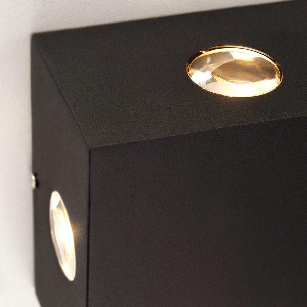 Kvatra черный уличный настенный светодиодный светильник 1601 TECHNO LED 2