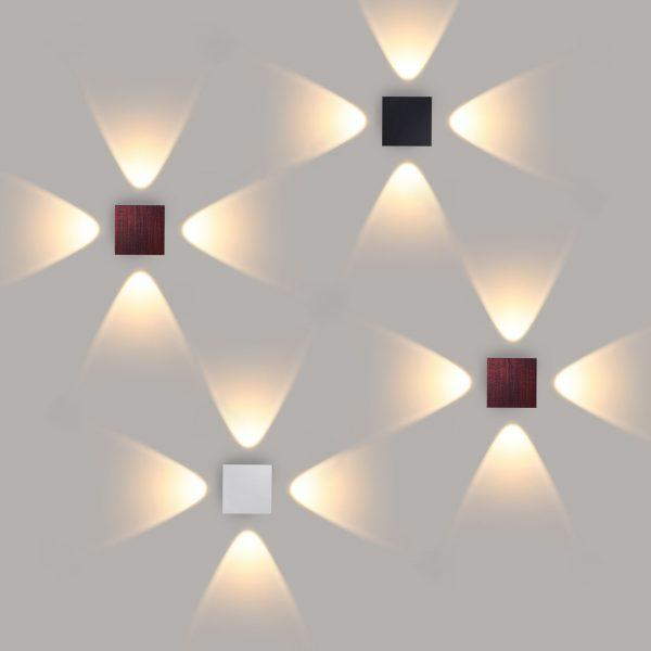 Kvatra красно-черный уличный настенный светодиодный светильник 1601 TECHNO LED 2