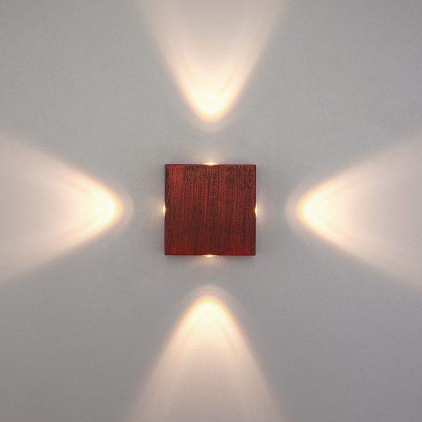 Kvatra красно-черный уличный настенный светодиодный светильник 1601 TECHNO LED 1