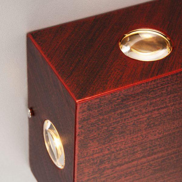 Kvatra красно-черный уличный настенный светодиодный светильник 1601 TECHNO LED 3
