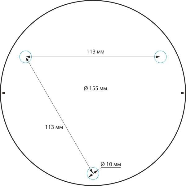 Ландшафтный светильник IP54 1508 TECHNO черный 1