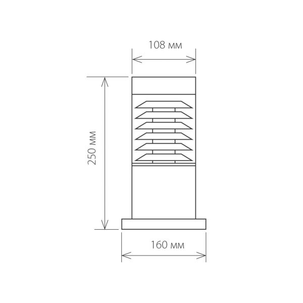 Ландшафтный светильник IP54 1508 TECHNO серый 8