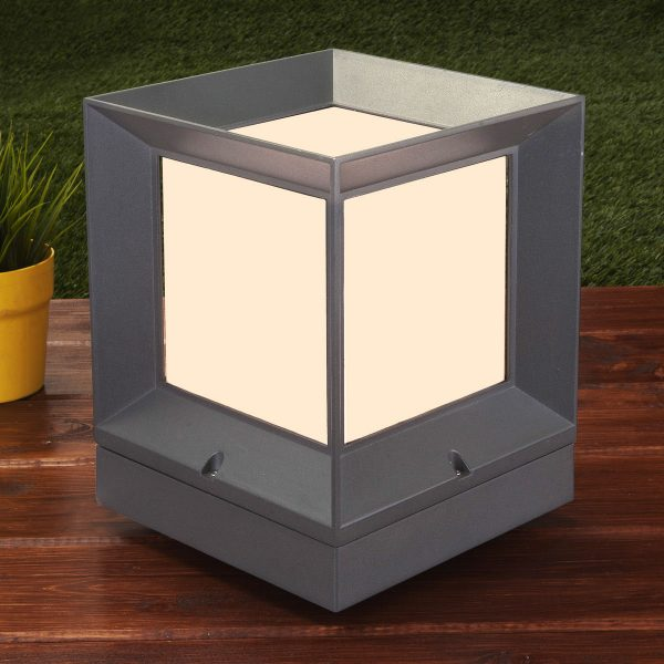 MARKO L серый ландшафтный светильник 1603 TECHNO