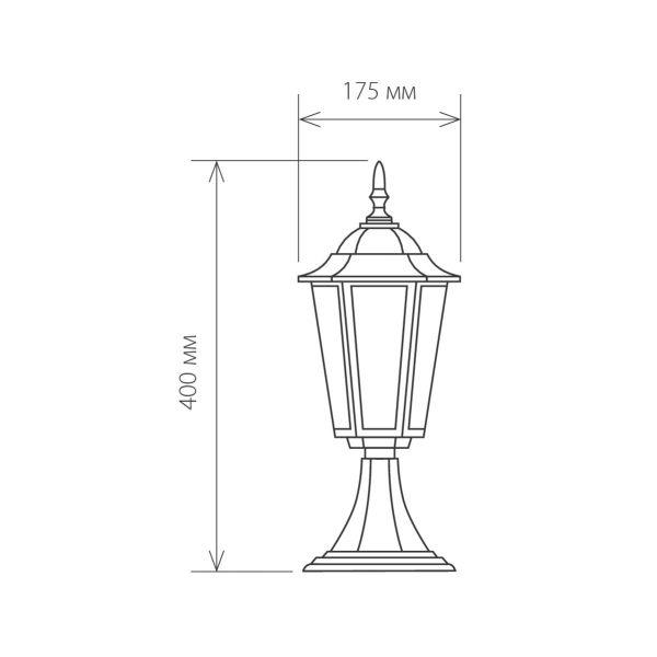 Ландшафтный светильник GL 1004S черный 1