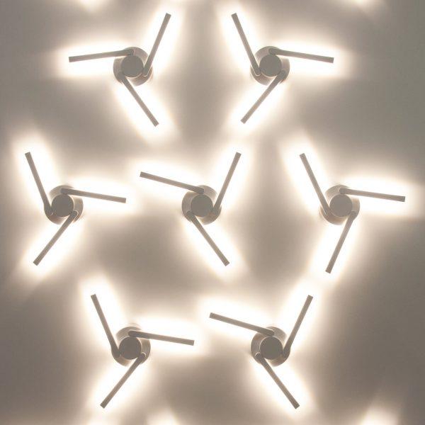 LEVER белый уличный светодиодный светильник с поворотным механизмом 1665 TECHNO LED 4