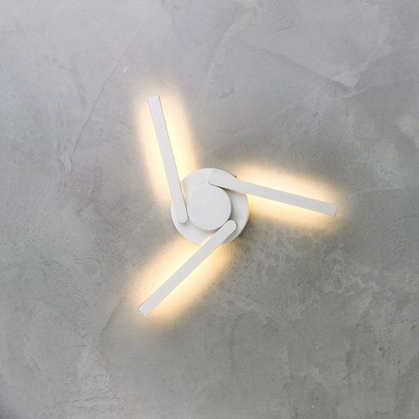 LEVER белый уличный светодиодный светильник с поворотным механизмом 1665 TECHNO LED 2