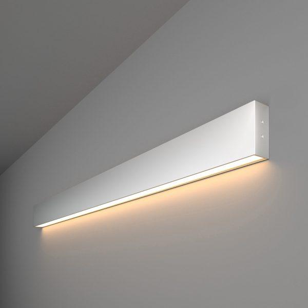 Линейный светодиодный накладной односторонний светильник 103см 20Вт матовое серебро 1