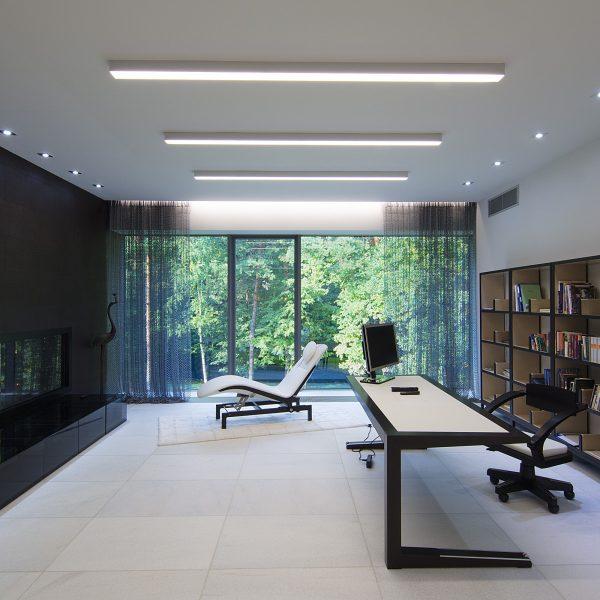 Линейный светодиодный накладной односторонний светильник 53см 10Вт матовое серебро 3