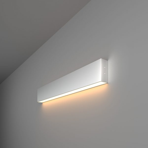 Линейный светодиодный накладной односторонний светильник 53см 10Вт матовое серебро 1