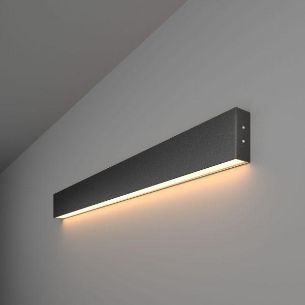 Линейный светодиодный накладной односторонний светильник 78см 15Вт ерная шагрень 1