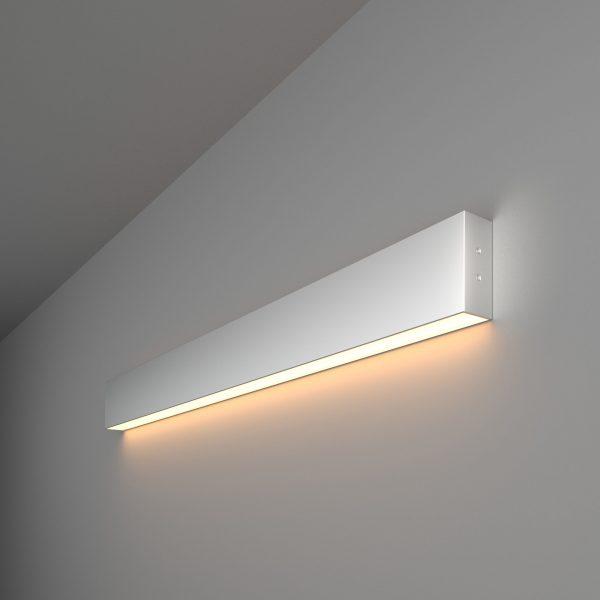 Линейный светодиодный накладной односторонний светильник 78см 15Вт матовое серебро 1