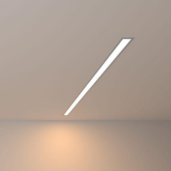 Линейный светодиодный встраиваемый светильник 103см 20Вт 3000К матовое серебро LS-03-103-3000-MS