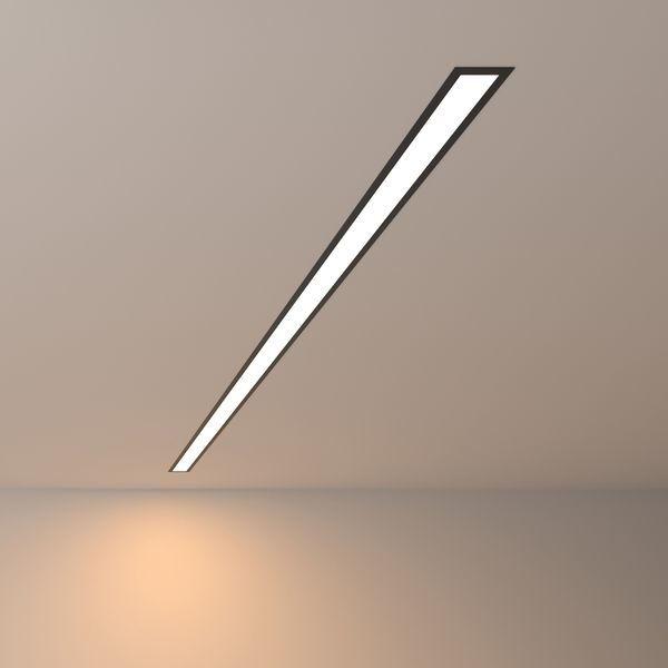 Линейный встраиваемый светодиодный светильник теплый свет