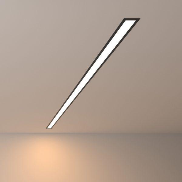Линейный светодиодный встраиваемый светильник 128см 25Вт 3000К черный матовый LS-03-128-3000-MB