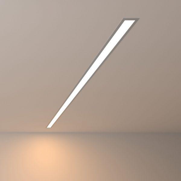 Линейный светодиодный встраиваемый светильник 128см 25Вт 3000К матовое серебро LS-03-128-3000-MS