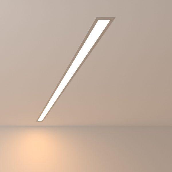 Линейный светодиодный встраиваемый светильник 128см 25Вт 3000К матовое серебро LSG-03-5*128-3000-MS