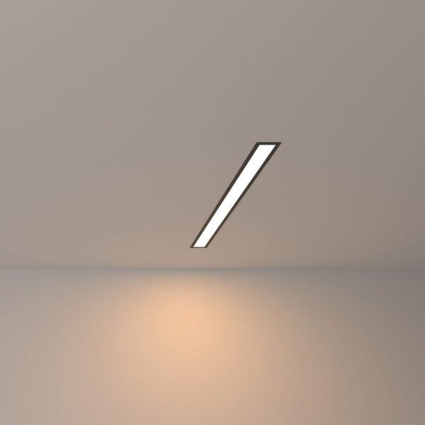 Линейный светодиодный встраиваемый светильник 53см 10Вт 3000К черный матовый LS-03-53-3000-MB