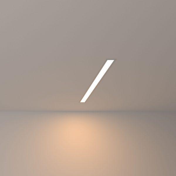 Линейный светодиодный встраиваемый светильник 53см 10Вт 3000К матовое серебро LS-03-53-3000-MS