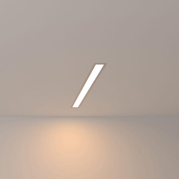 Линейный светодиодный встраиваемый светильник 53см 10Вт 3000К матовое серебро LSG-03-5*53-3000-MS