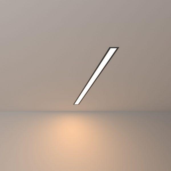 Линейный светодиодный встраиваемый светильник 78см 15Вт 3000К черный матовый LS-03-78-3000-MB