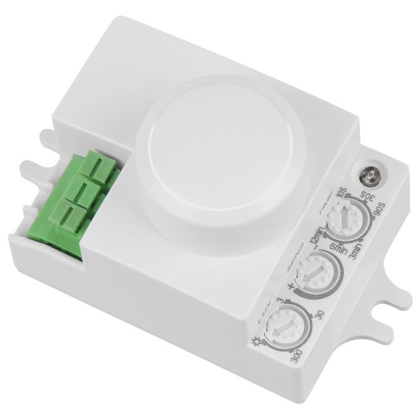 Микроволновый датчик движения MCW 1200W R16m Белый SNS-M-06
