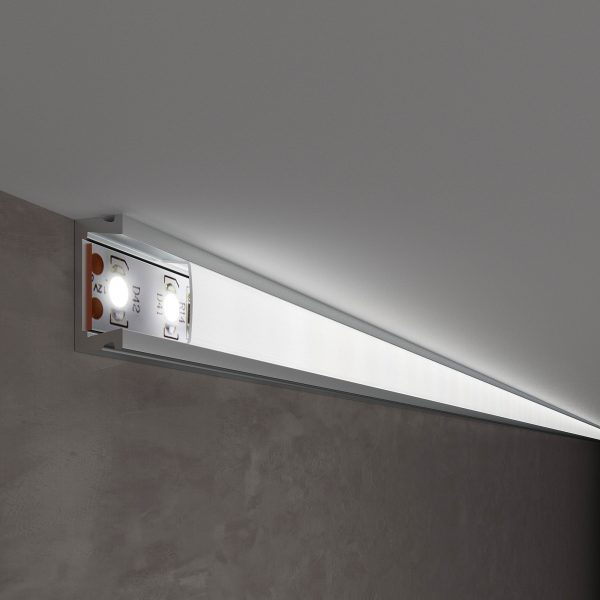 Накладной алюминиевый профиль для светодиодной ленты LL-2-ALP006 1