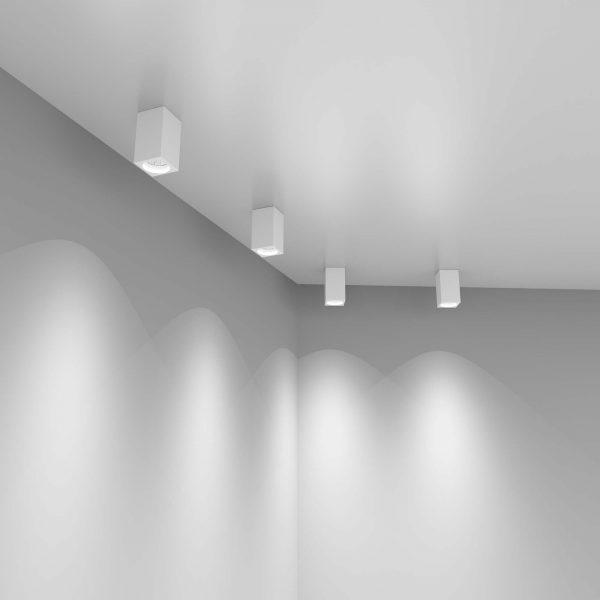 Накладной потолочный светильник 1085 GU10 WH белый матовый 2