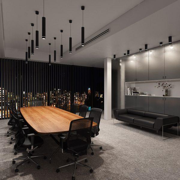 Накладной потолочный светодиодный светильник DLR022 12W 4200K черный матовый 1
