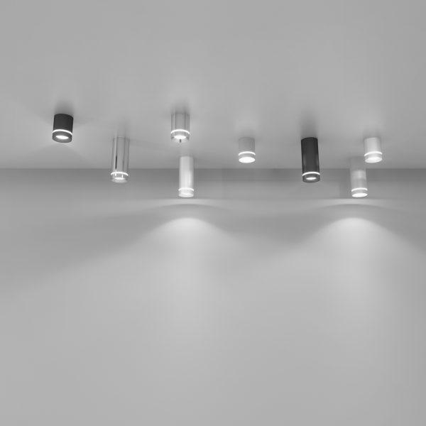 Накладной потолочный светодиодный светильник DLR022 12W 4200K хром матовый 3
